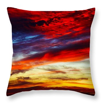 Sunset At Louie's Throw Pillow