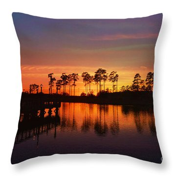 Sunset At Market Commons II Throw Pillow