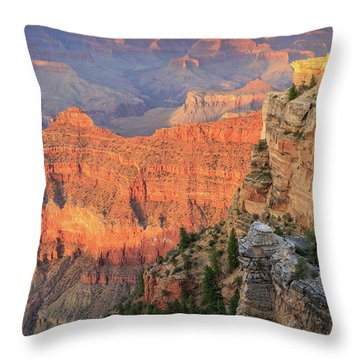 Throw Pillow featuring the photograph Sunset At Mather Point by David Chandler