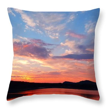 Sunset At Ministers Island Throw Pillow