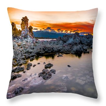 Sunset At Mono Lake Throw Pillow