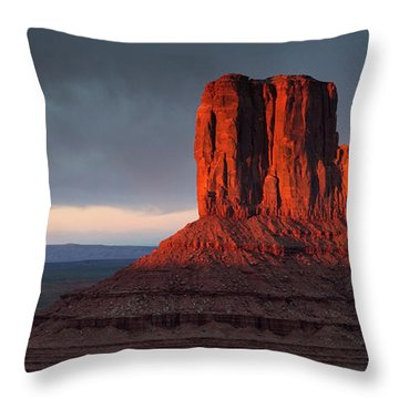 Sunset At Monument Valley Throw Pillow