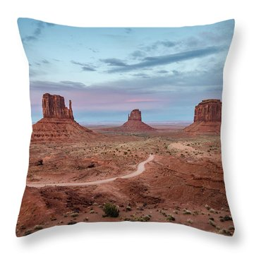 Sunset At Monument Valley No.1 Throw Pillow