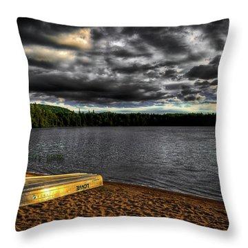Sunset At Nicks Lake Throw Pillow by David Patterson