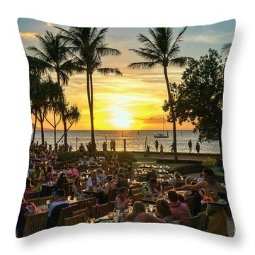 Sunset At Old Lahaina Luau #1 Throw Pillow