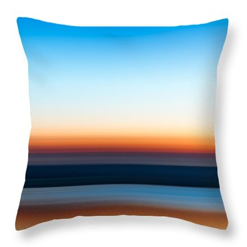 Sunset At Ottawa Lake Throw Pillow