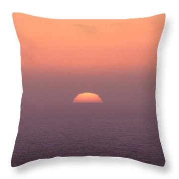 Throw Pillow featuring the photograph Sunset At Pacifica by Peter Simmons