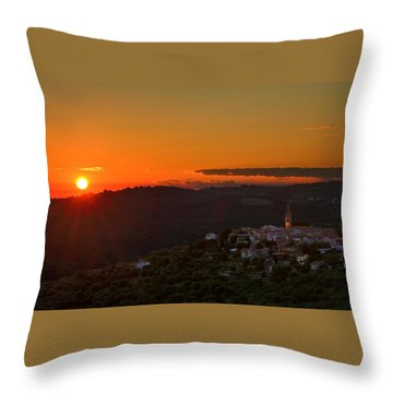 Sunset At Padna Throw Pillow