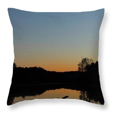 Sunset At Paulinskill Lake Throw Pillow