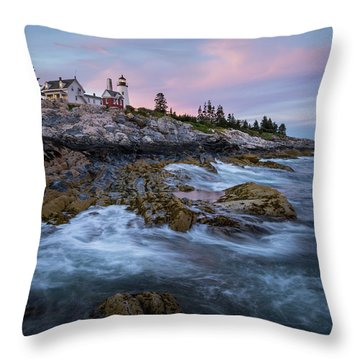 Sunset At Pemaquid Throw Pillow