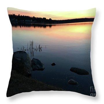 Sunset At Pentwater Lake Throw Pillow