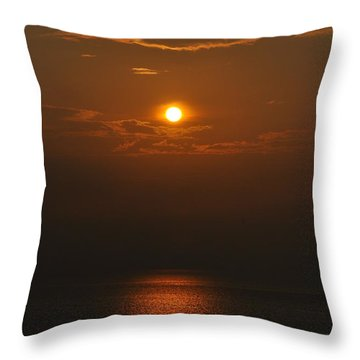 Sunset At Rameshwaram India Throw Pillow
