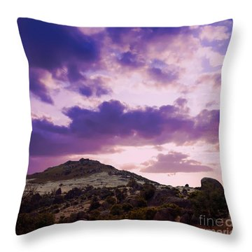 Sunset At Rocky Point  Throw Pillow