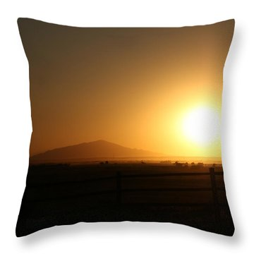Sunset At Roswell New Mexico  Throw Pillow