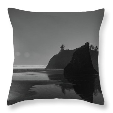 Sunset At Ruby Beach #2 Throw Pillow
