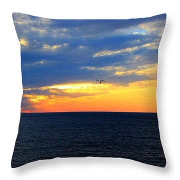 Throw Pillow featuring the photograph Sunset At Sail Away by Shelley Neff
