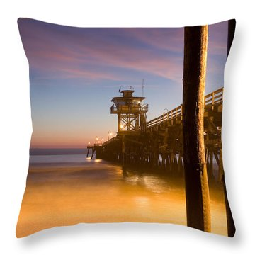 Sunset At San Clemente Throw Pillow