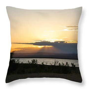 Sunset At Sand Hollow Beach Throw Pillow