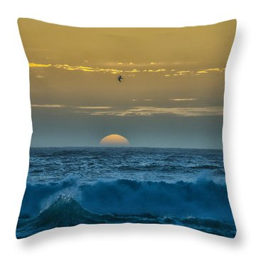 Sunset At Sea Throw Pillow by Billie-Jo Miller
