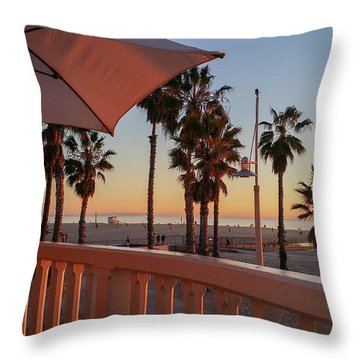 Sunset At Shutters Throw Pillow