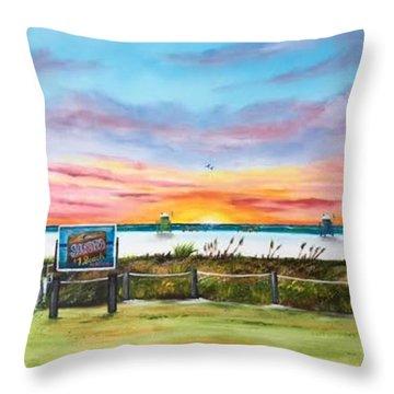 Sunset At Siesta Key Public Beach Throw Pillow