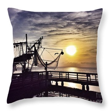 Sunset At Snoopy's Throw Pillow