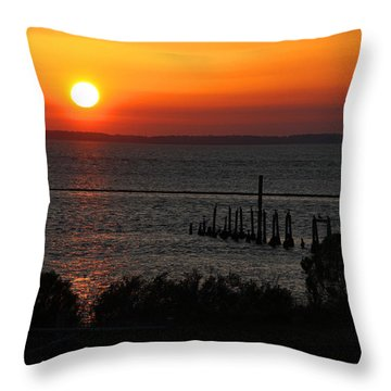 Throw Pillow featuring the photograph Sunset At St.marks Nwf by Barbara Bowen