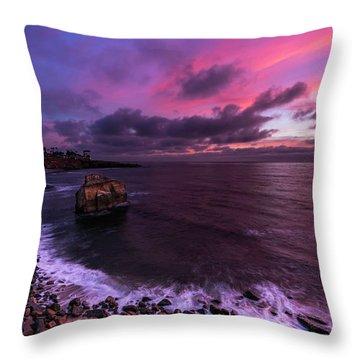 Sunset At Sunset Cliffs Throw Pillow