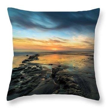 Ocean Sunset Throw Pillows