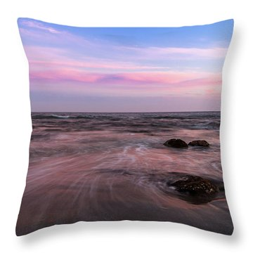 Sunset At The Atlantic Throw Pillow