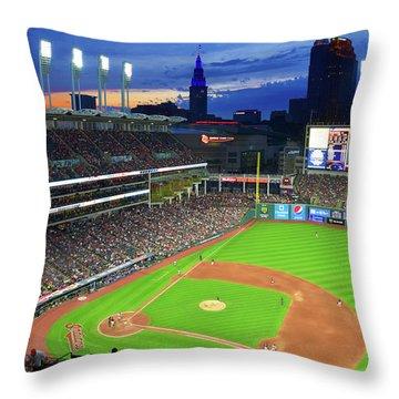 Sunset At The Ballpark Throw Pillow