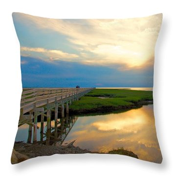 Sunset At The Boardwalk Throw Pillow
