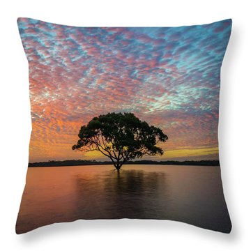 Throw Pillow featuring the photograph Sunset At The Brighton Tree by Keiran Lusk