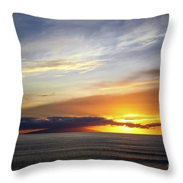 Sunset At The Canary Island La Palma Throw Pillow