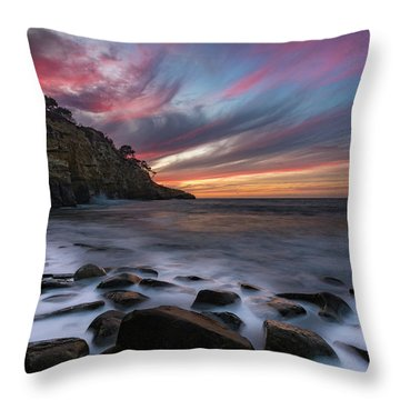 Sunset At The Cove Throw Pillow
