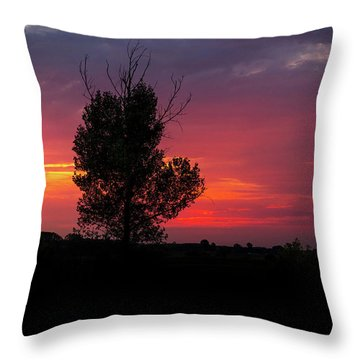 Sunset At The Danube Banks Throw Pillow