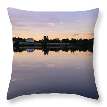 Throw Pillow featuring the photograph Sunset At The Farmhouse by Monte Stevens