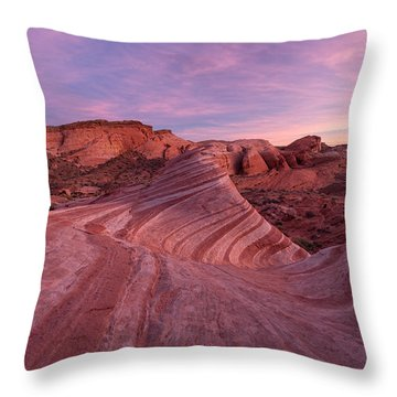 Throw Pillow featuring the photograph Sunset At The Fire Wave by Patricia Davidson