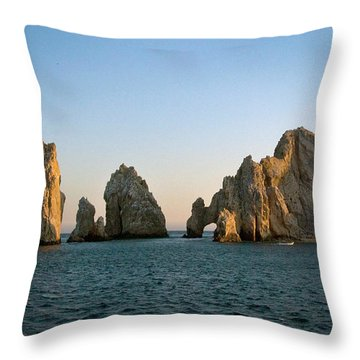 Sunset At The Golden Arch Throw Pillow