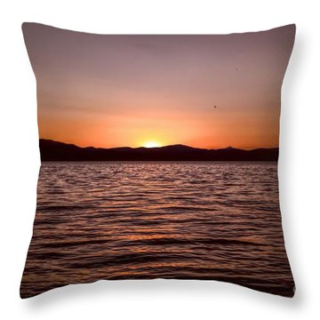 Sunset At The Lake 2 Throw Pillow