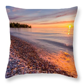 Sunset At The Loop  Throw Pillow