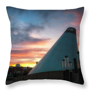 Sunset At The Museum Of Glass Throw Pillow
