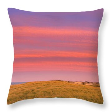 Throw Pillows Magnolia : Sunset At The Old Harbor Us Life Saving Station At Race Point, P Photograph by Henk Meijer ...