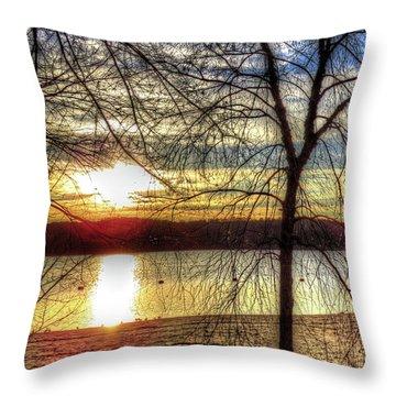 Sunset At The Park Throw Pillow
