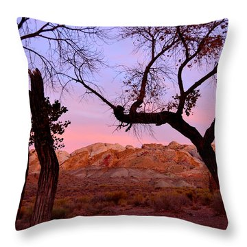 Sunset At The Swell Throw Pillow