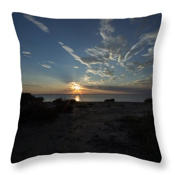 Sunset At Torrey Pines Throw Pillow