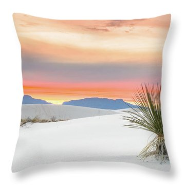 Sunset At White Sands National Monument Throw Pillow