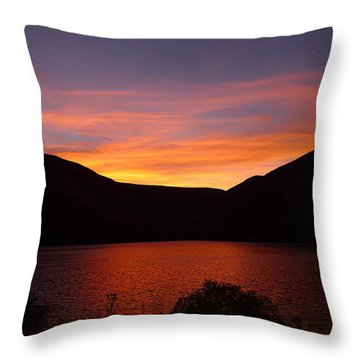 Sunset At Woodhead Campground  Throw Pillow