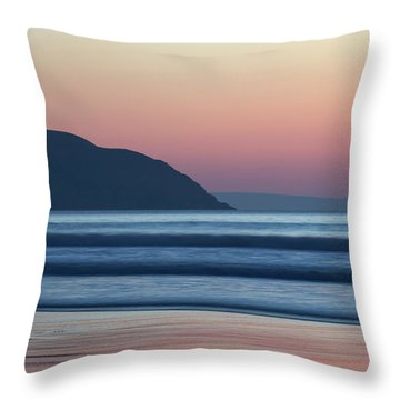 Sunset At Woolacombe Throw Pillow