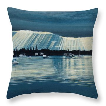 Sunset At Yamba Nsw Throw Pillow